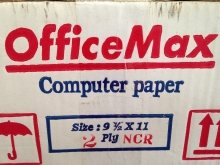 Continuos Form Office Max 91/2 inch X 11 inch,2Ply